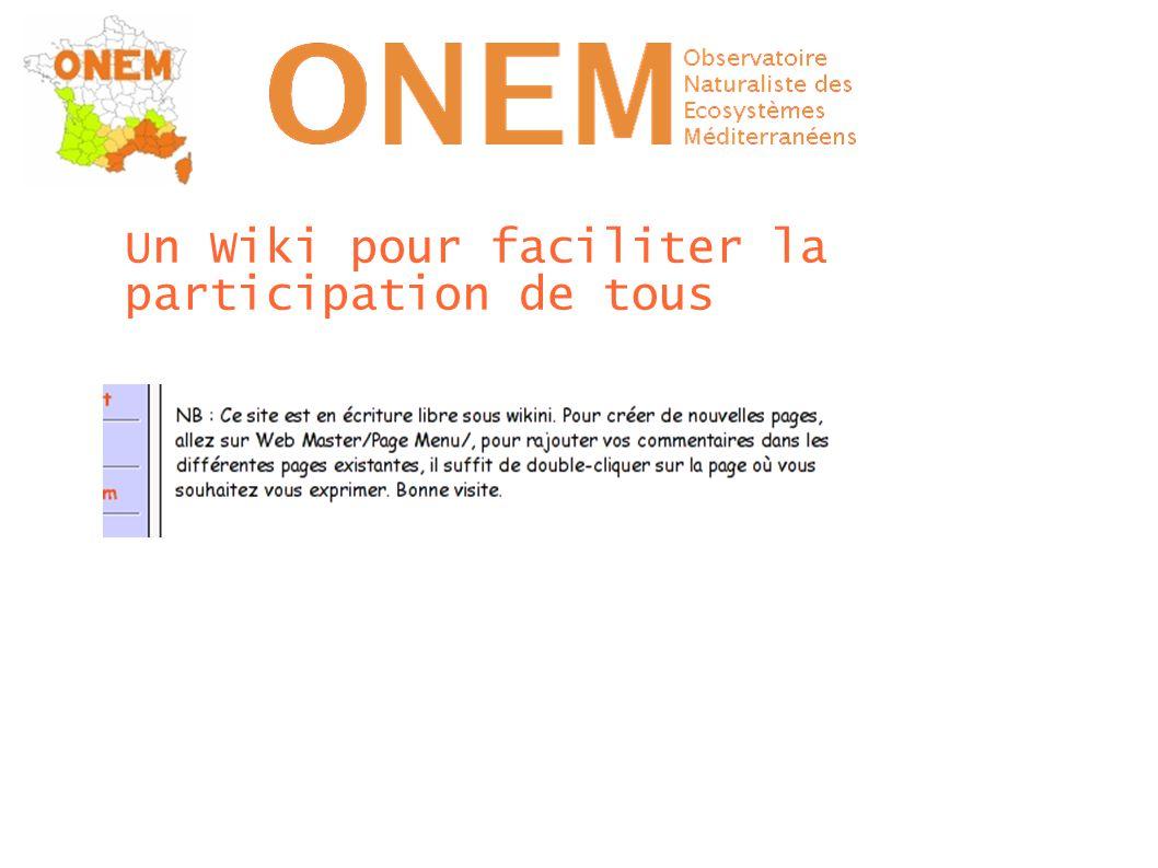 Un Wiki pour faciliter la participation de tous
