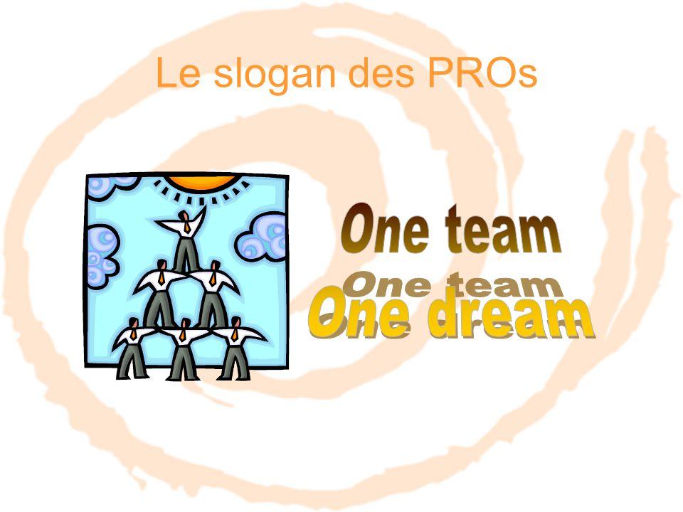 Le slogan des PROs