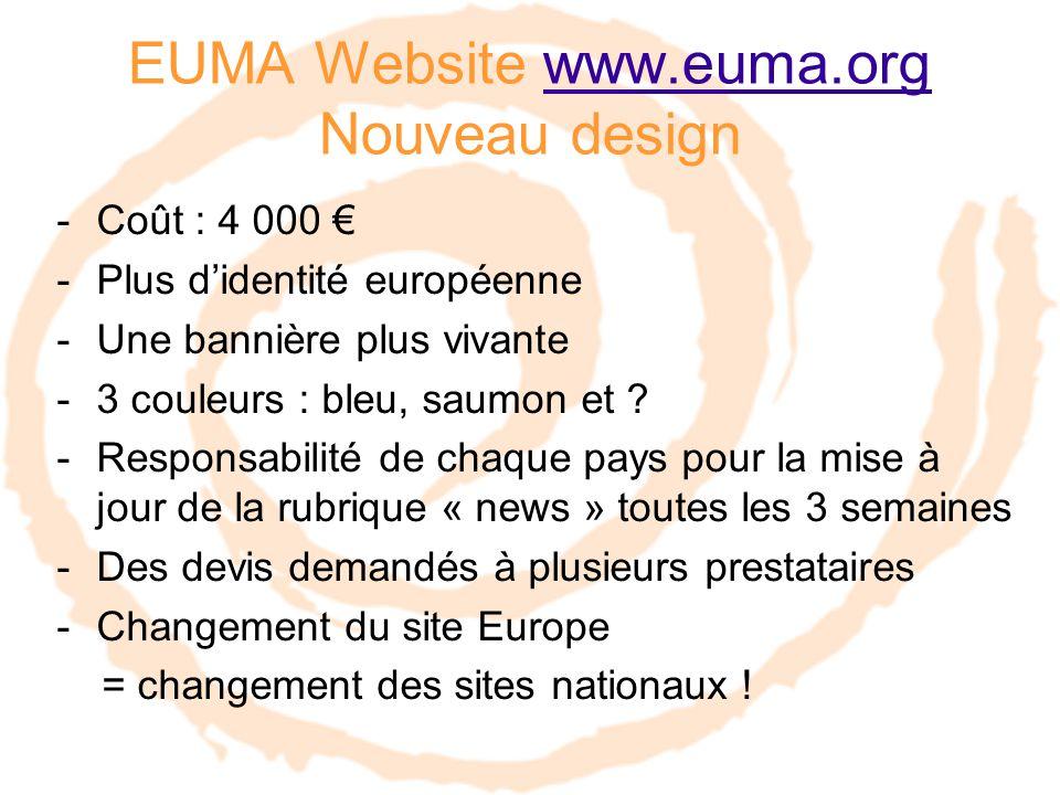 -Coût : 4 000 € -Plus d'identité européenne -Une bannière plus vivante -3 couleurs : bleu, saumon et .