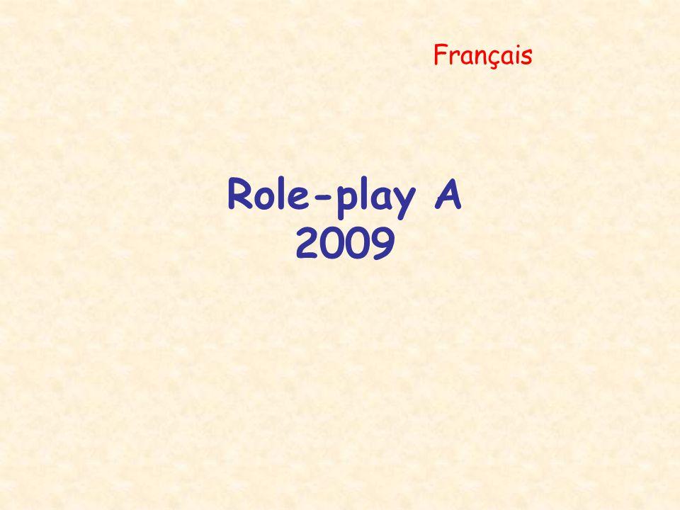 Role-play A 2009 Français
