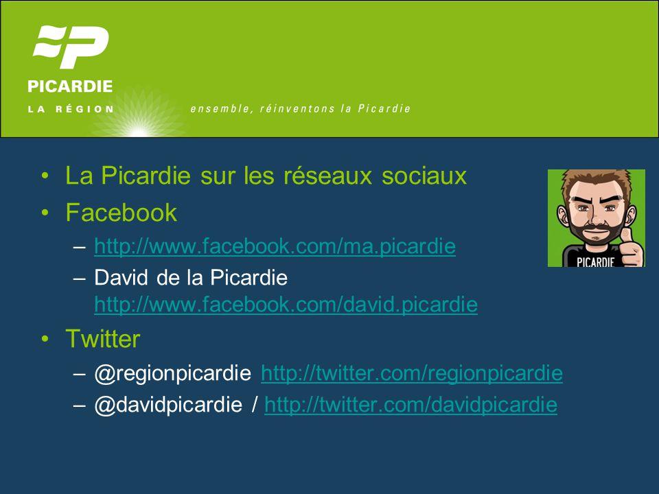 La Picardie sur les réseaux sociaux Facebook –http://www.facebook.com/ma.picardiehttp://www.facebook.com/ma.picardie –David de la Picardie http://www.