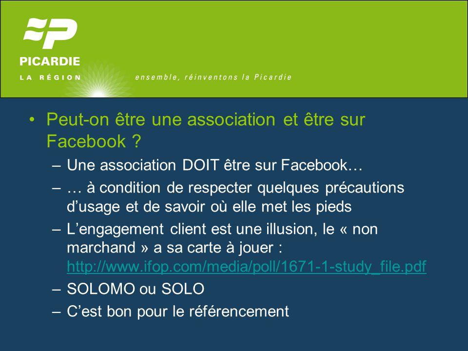 Peut-on être une association et être sur Facebook ? –Une association DOIT être sur Facebook… –… à condition de respecter quelques précautions d'usage