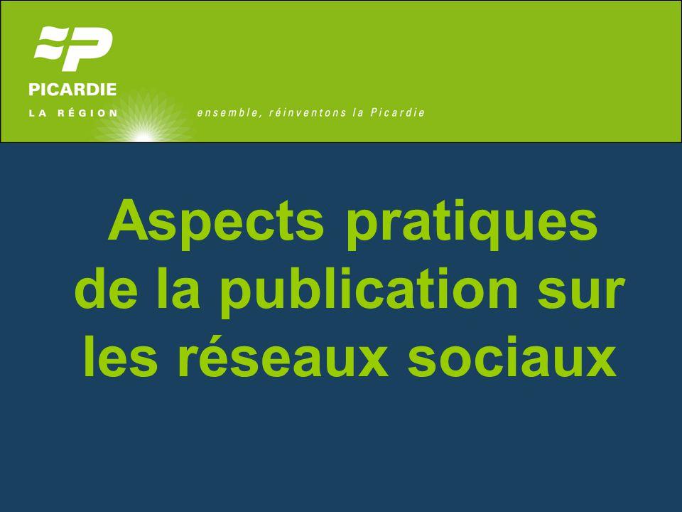 Aspects pratiques de la publication sur les réseaux sociaux