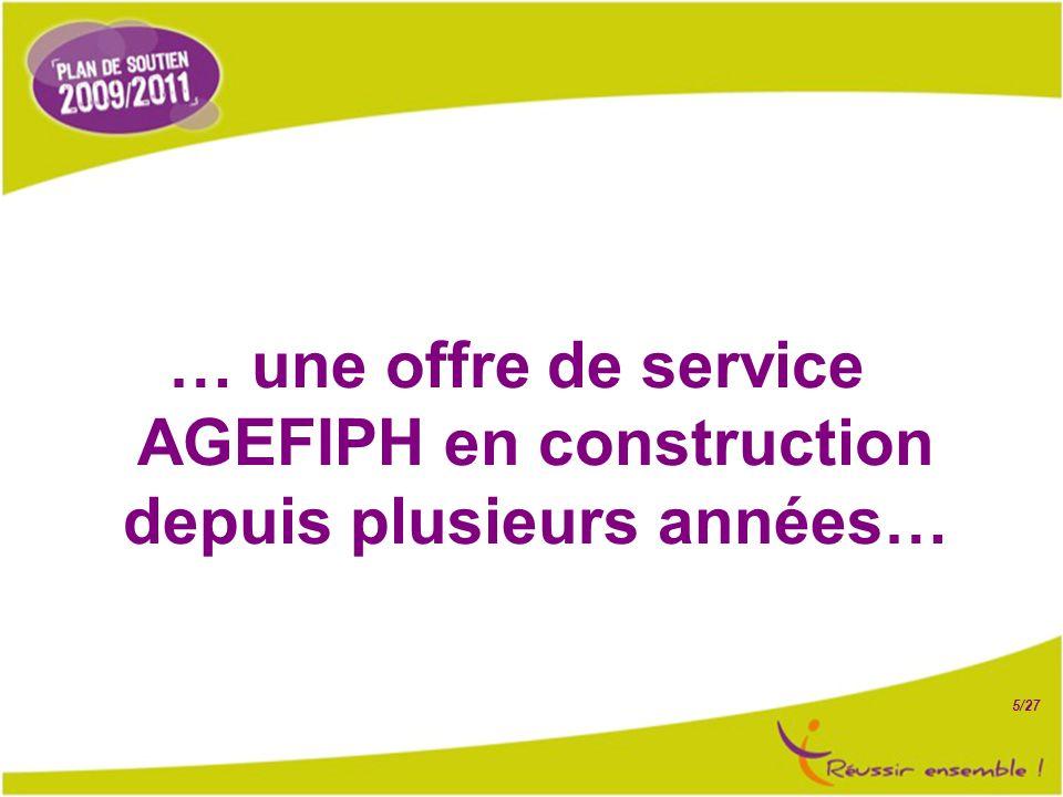 5/27 … une offre de service AGEFIPH en construction depuis plusieurs années…