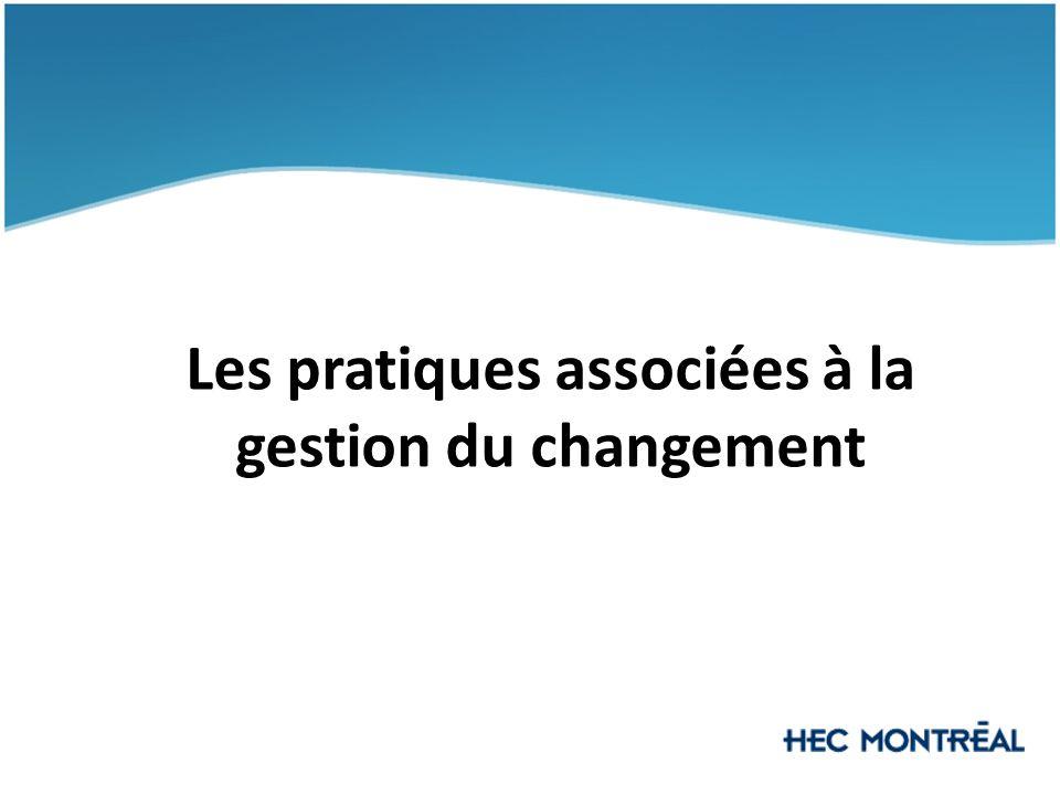 Les pratiques associées à la gestion du changement