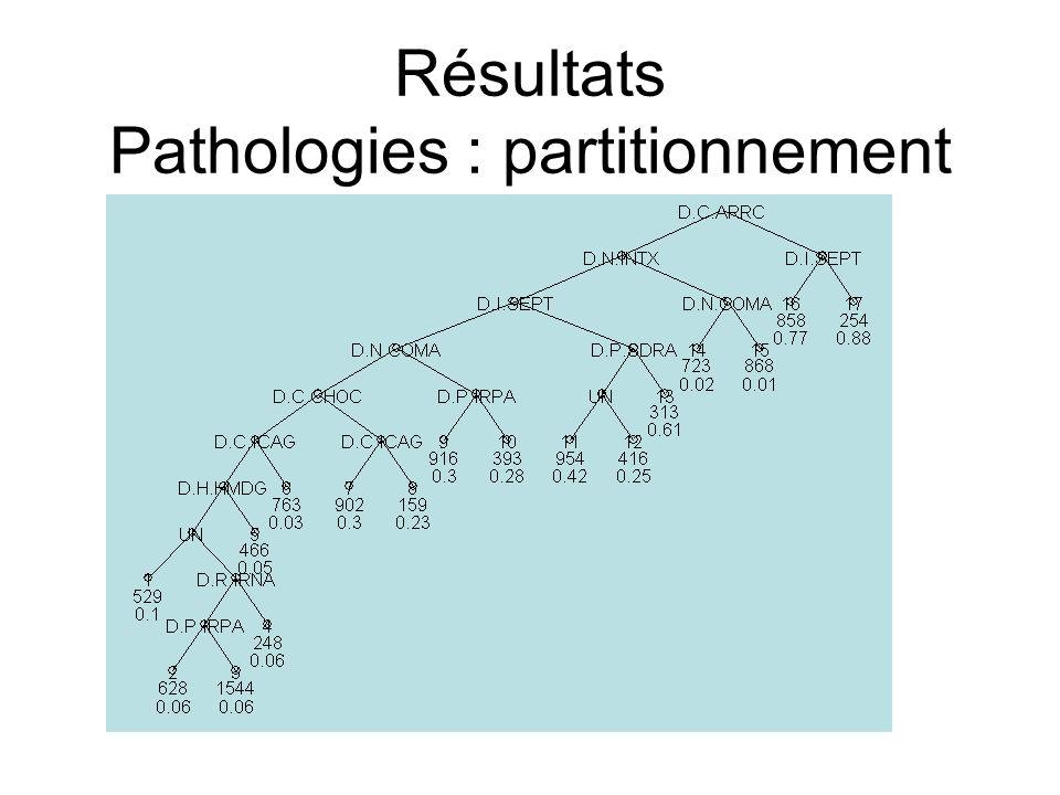 Résultats Pathologies : partitionnement
