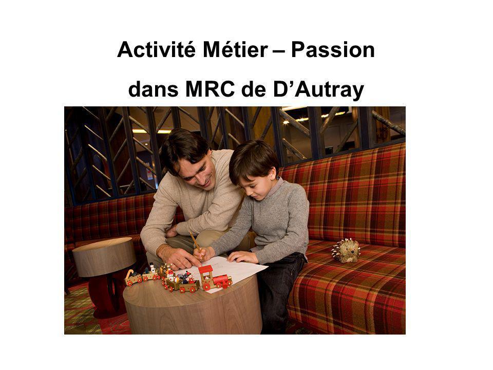 Activité Métier – Passion dans MRC de D'Autray