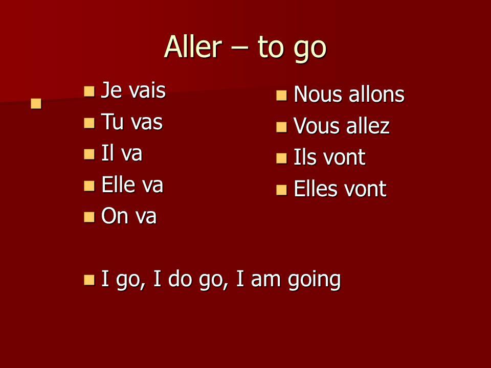 How to form the passé composé: To form the passé composé you use the present tense of the verb avoir.