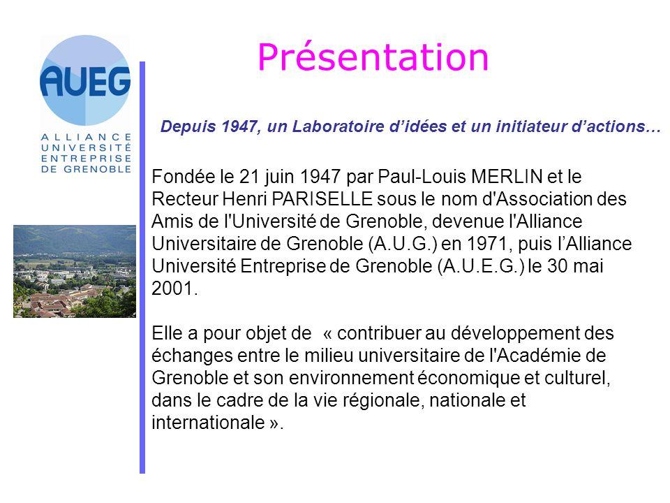 Présentation Depuis 1947, un Laboratoire d'idées et un initiateur d'actions… Fondée le 21 juin 1947 par Paul-Louis MERLIN et le Recteur Henri PARISELL