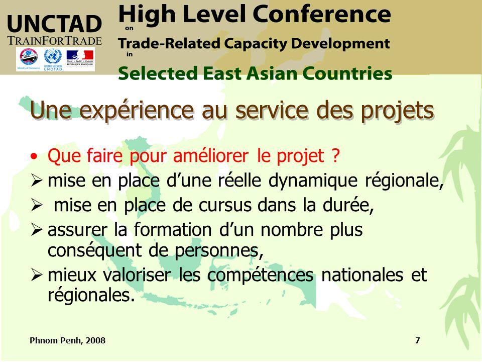 Phnom Penh, 20088 Projets connexes soutenus par la France Au Cambodge : ERA, RULE, URA Dans la région : SYNERGIE, AIT
