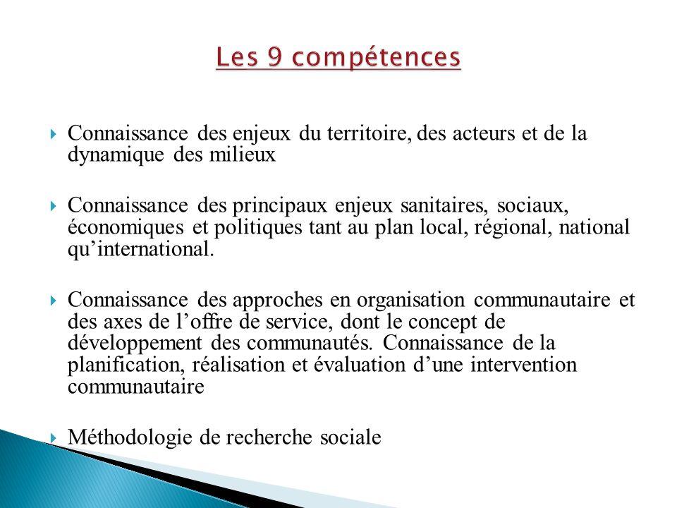  Connaissance des enjeux du territoire, des acteurs et de la dynamique des milieux  Connaissance des principaux enjeux sanitaires, sociaux, économiq