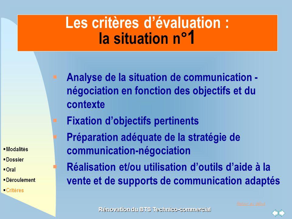 Retour au début Rénovation du BTS Technico-commercial  Analyse de la situation de communication - négociation en fonction des objectifs et du context