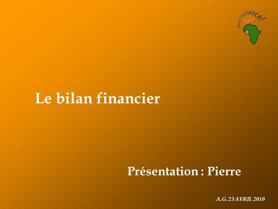 Le bilan financier Présentation : Pierre