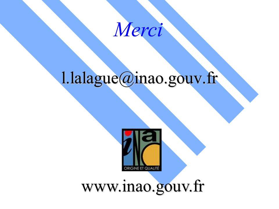 www.inao.gouv.fr l.lalague@inao.gouv.fr Merci