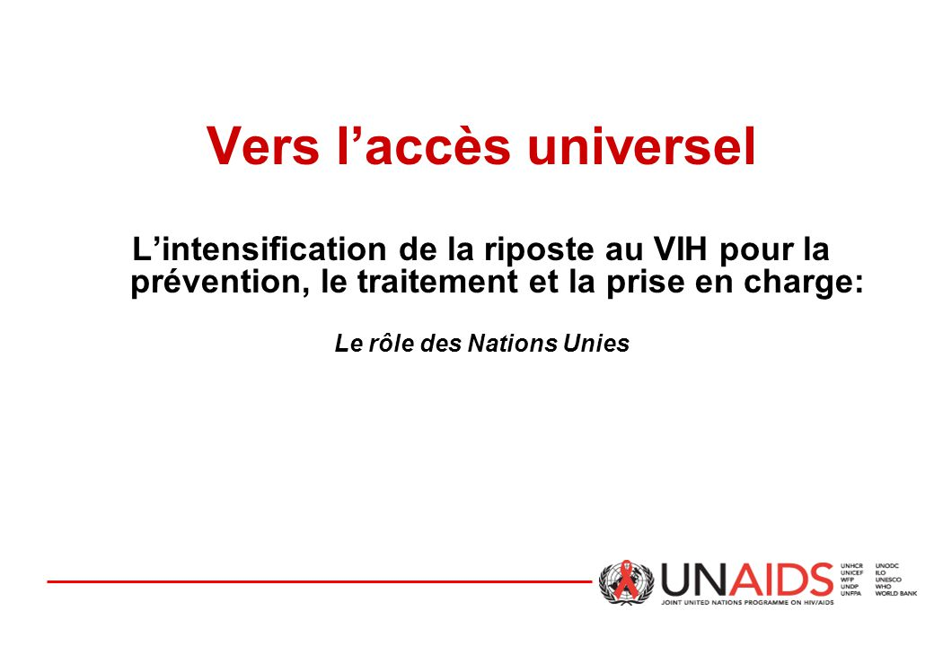 Trois Principes: Le role du systeme des Nations Unies.