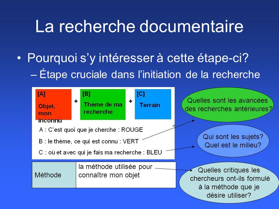 La recherche documentaire (suite) Pourquoi faut-il de bonnes méthodes de recherche documentaire.