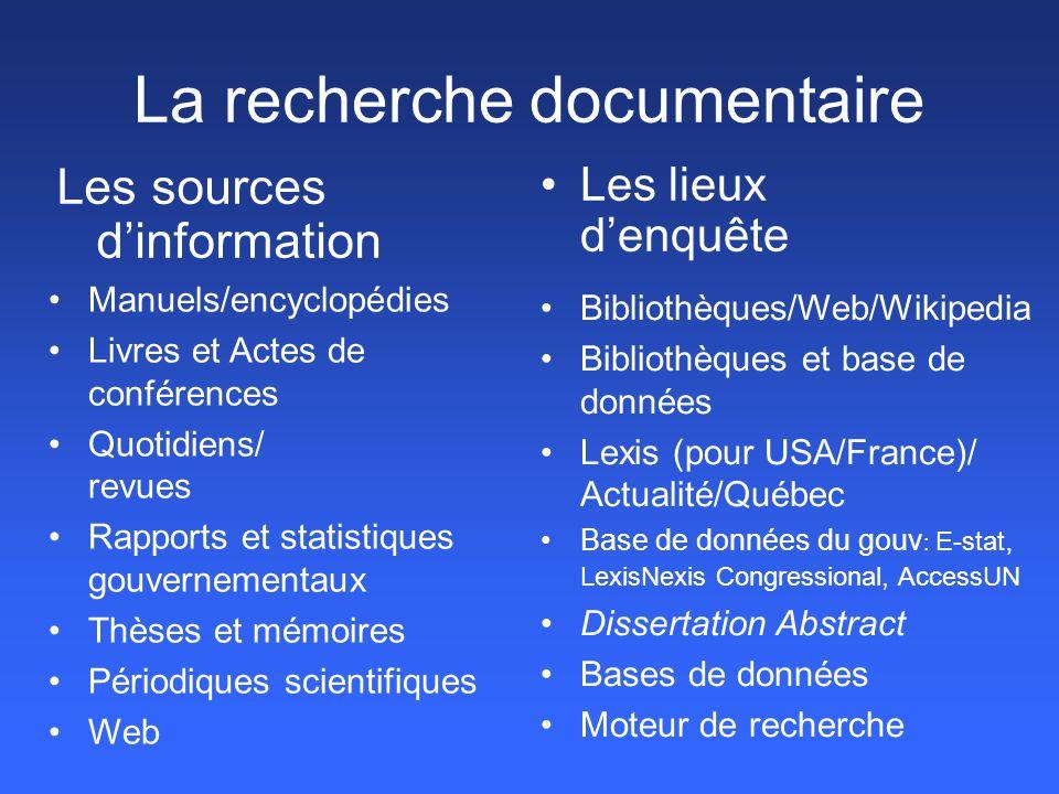 Francis Force -Indexe principaux journaux scientifiques de toutes les disciplines en sciences humaines - très multidisciplinaire (sc.hum + littérature) -comprend le Québec et la France Faiblesse - Seuls les principaux journaux sont indexés