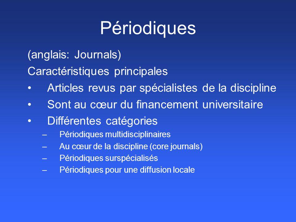 Repère Force et faiblesse -Concentrées sur les publications québécoises - Multidisciplinaire (sciences humaines)