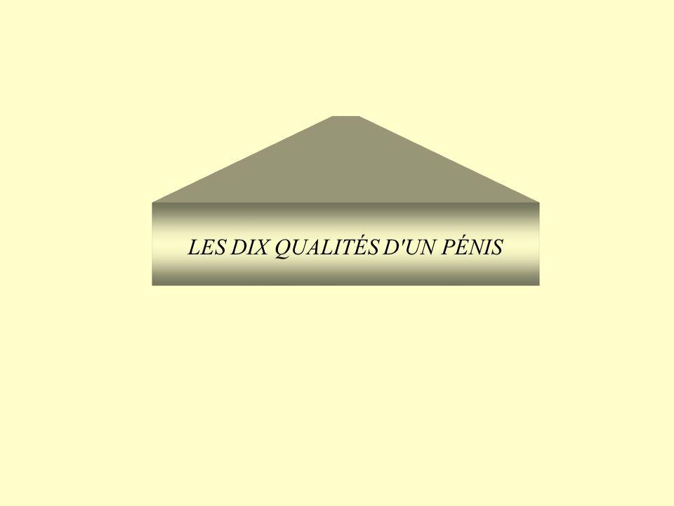 LES DIX QUALITÉS D'UN PÉNIS