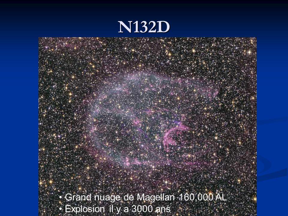 N132D Grand nuage de Magellan 160,000 AL Explosion il y a 3000 ans