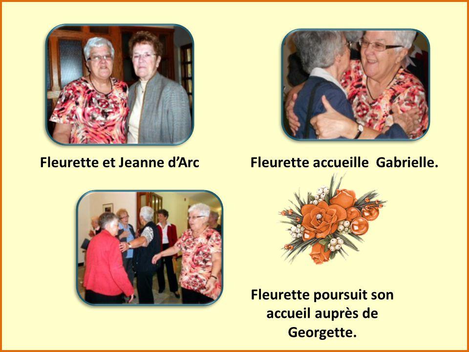Jeannine Simard, Edna Lachance, Paulette Chénard et Lucille Laplante sont prêtes pour nous accueillir.