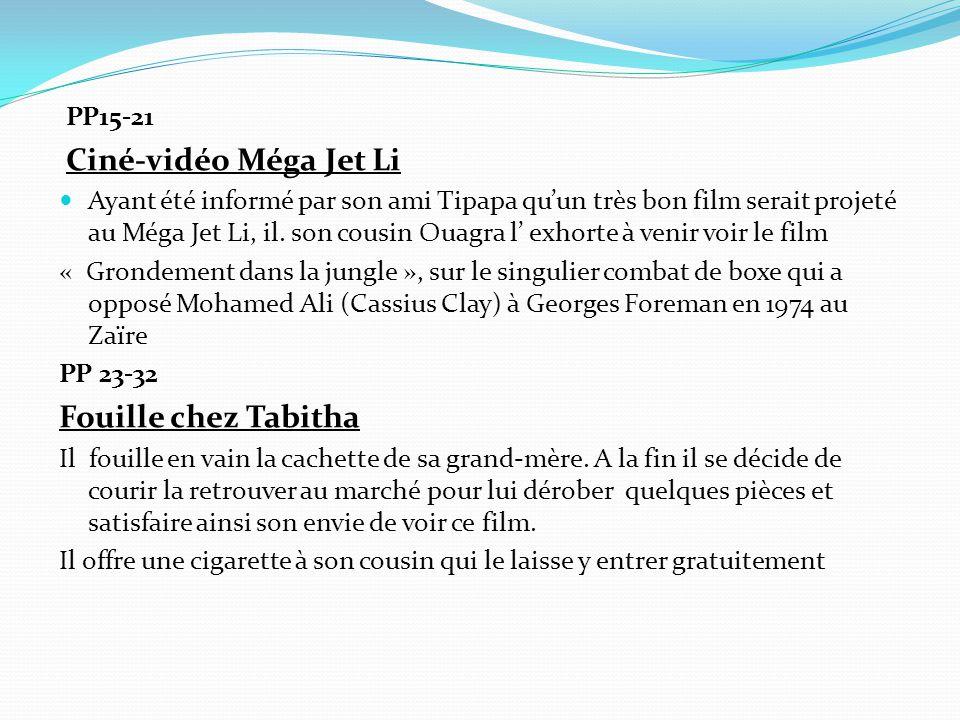 PP15-21 Ciné-vidéo Méga Jet Li Ayant été informé par son ami Tipapa qu'un très bon film serait projeté au Méga Jet Li, il.