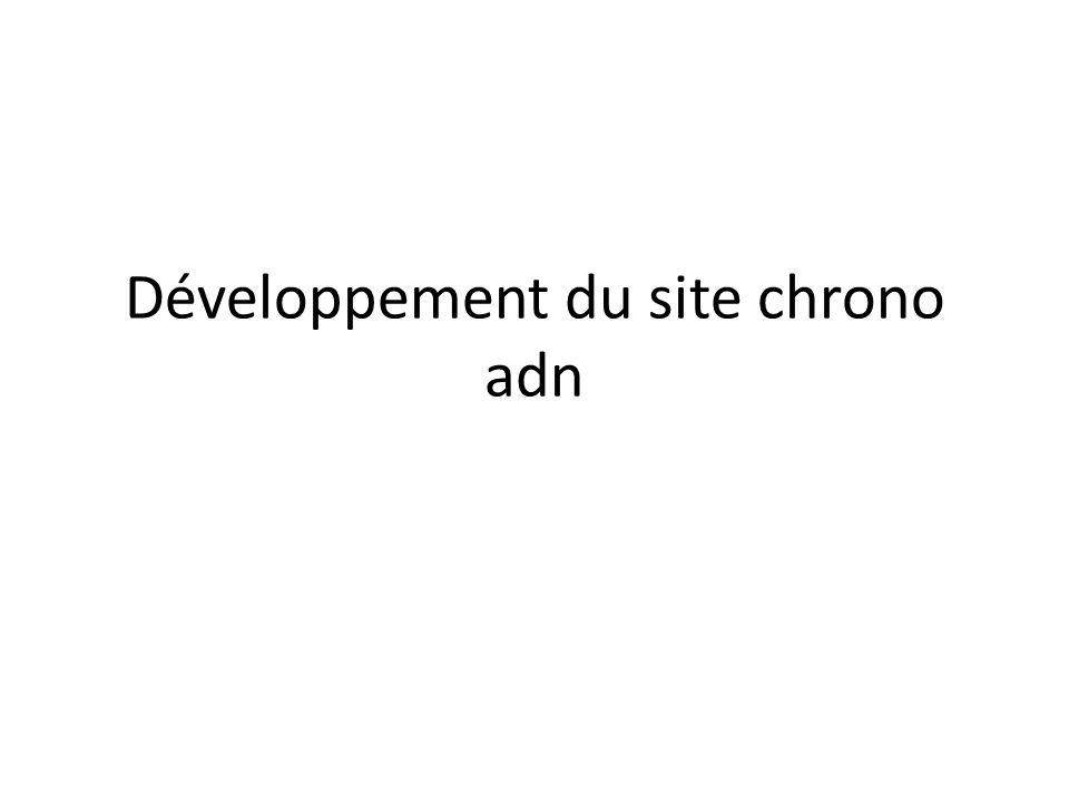 Développement du site chrono adn