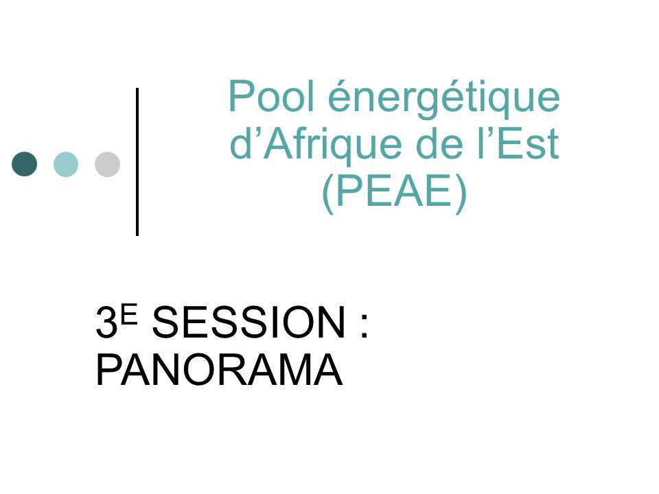 Pool énergétique d'Afrique de l'Est (PEAE) 3 E SESSION : PANORAMA