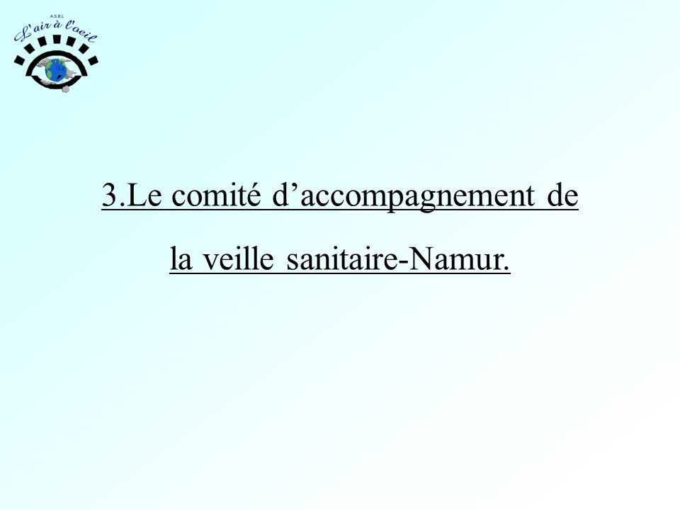 3.Le comité d'accompagnement de la veille sanitaire-Namur.