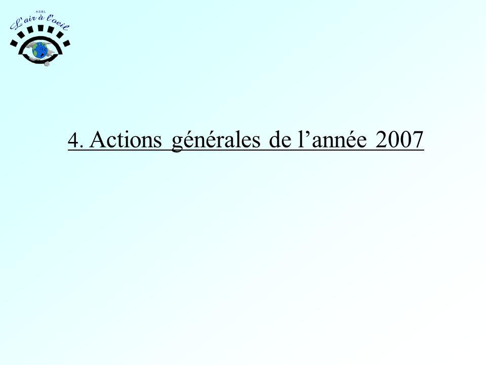 4. Actions générales de l'année 2007