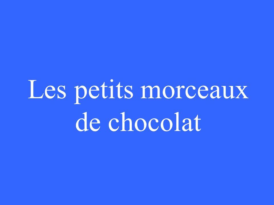 Les petits morceaux de chocolat