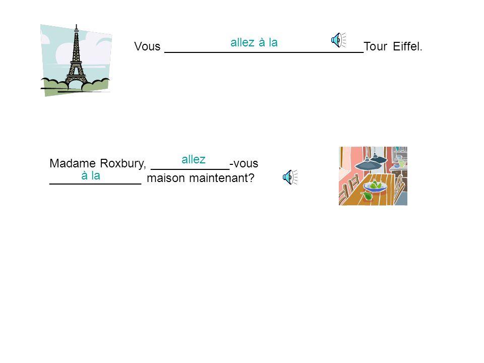 Vous ______________________________Tour Eiffel.