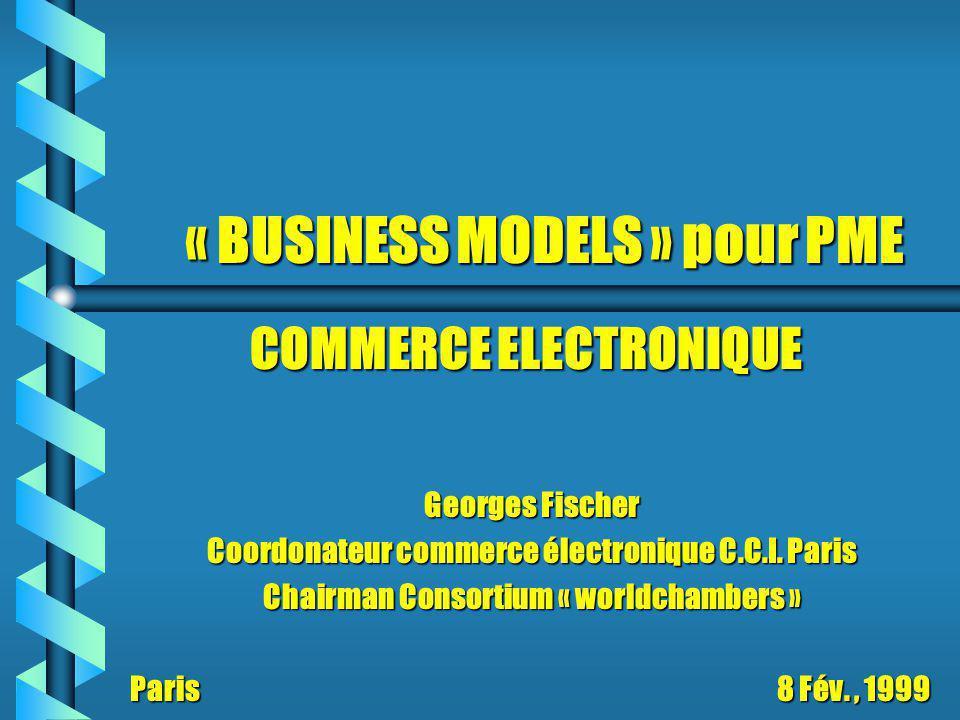 « BUSINESS MODELS » pour PME Georges Fischer Coordonateur commerce électronique C.C.I.