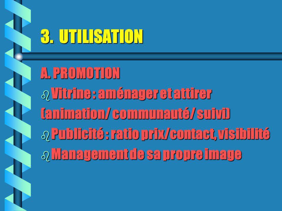 3.UTILISATION A.