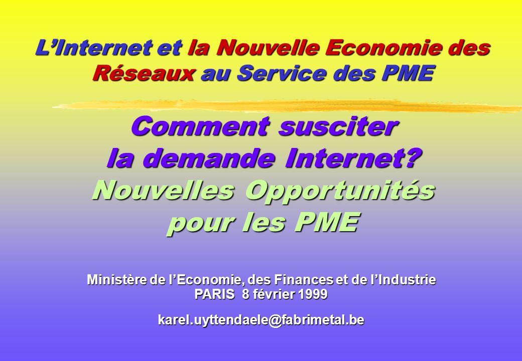 L'Internet et la Nouvelle Economie des Réseaux au Service des PME Comment susciter la demande Internet.
