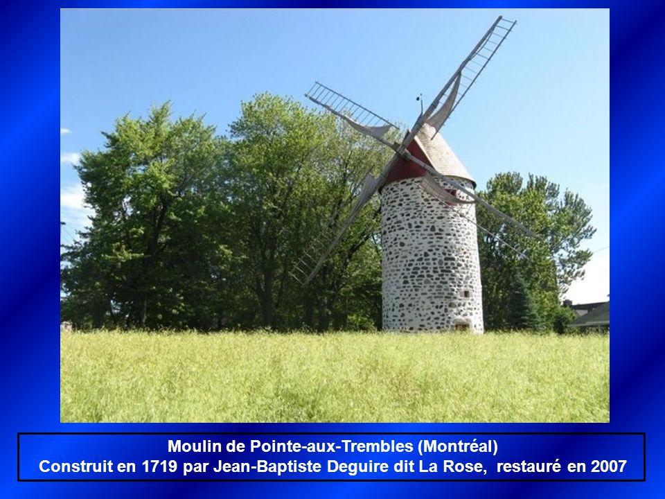 Moulin de la Pointe-du-Moulin. Notre-Dame de l'Île Perrot Construit en 1705 par Léonard Paillé dit Paillard