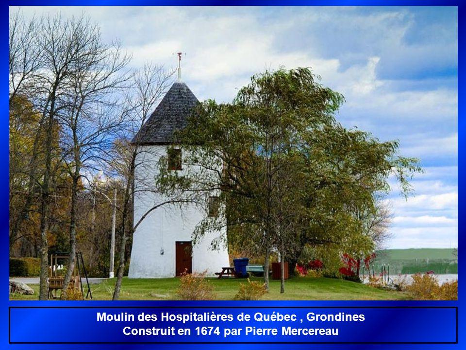 Moulin des Hospitalières de Québec, Grondines Construit en 1674 par Pierre Mercereau