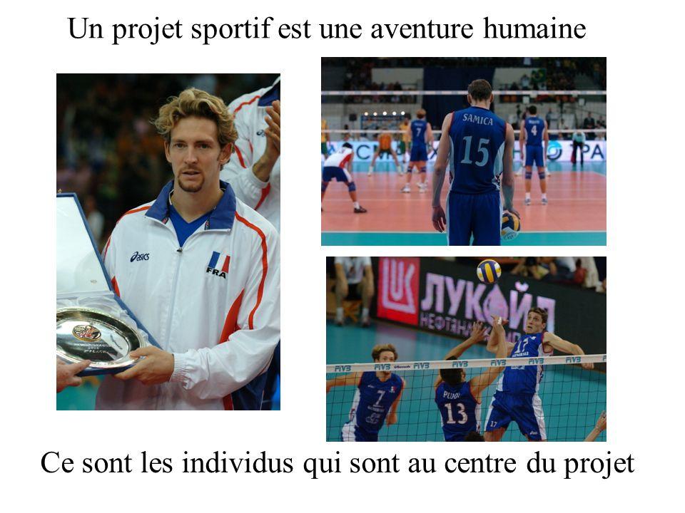 Un projet sportif est une aventure humaine Ce sont les individus qui sont au centre du projet