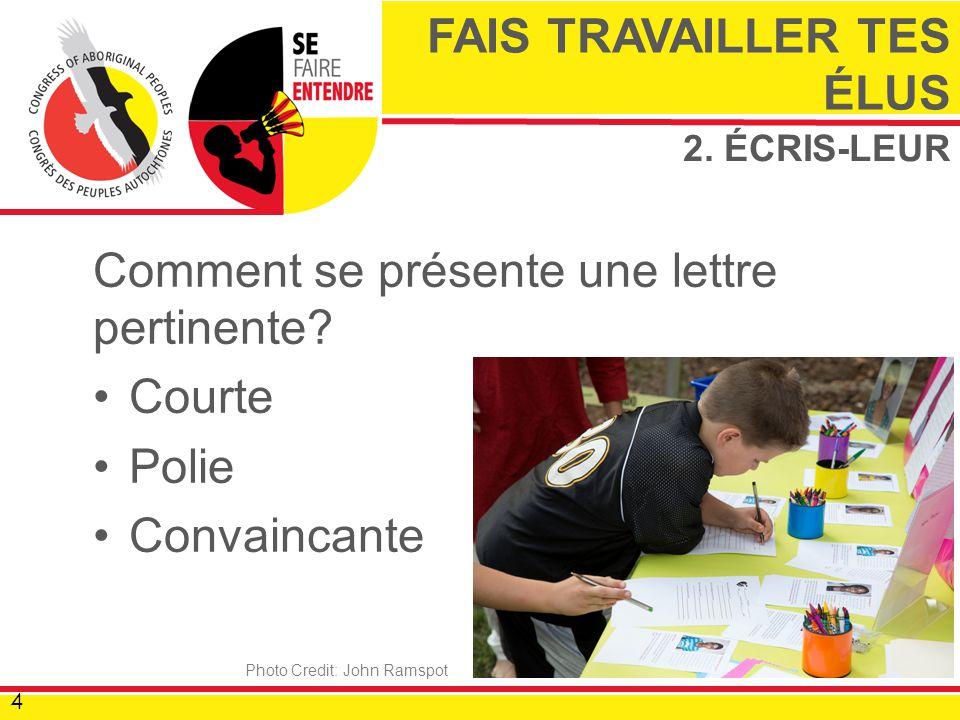 2. ÉCRIS-LEUR Comment se présente une lettre pertinente.