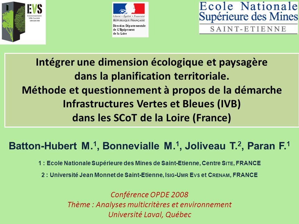 Batton-Hubert M. 1, Bonnevialle M. 1, Joliveau T. 2, Paran F. 1 1 : Ecole Nationale Supérieure des Mines de Saint-Etienne, Centre S ITE, FRANCE 2 : Un