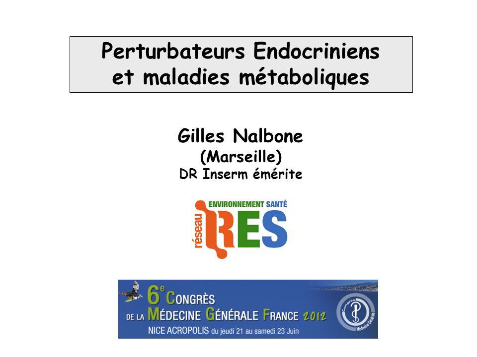 Organes cibles potentiels des PE conduisant au dérèglement du métabolisme glucido-lipidique SNC Foie Pancréas Tissu adipeux Muscle squelettique Adiponectine Leptine Cytokines AGL Fact.