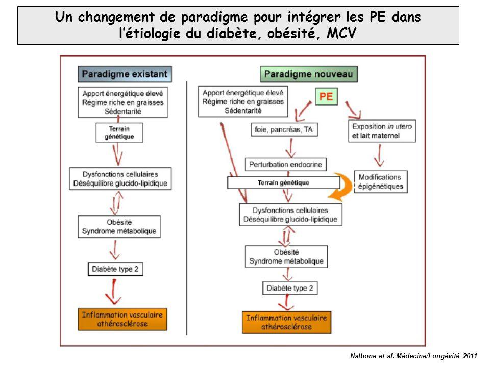 Nalbone et al. Médecine/Longévité 2011 Un changement de paradigme pour intégrer les PE dans l'étiologie du diabète, obésité, MCV