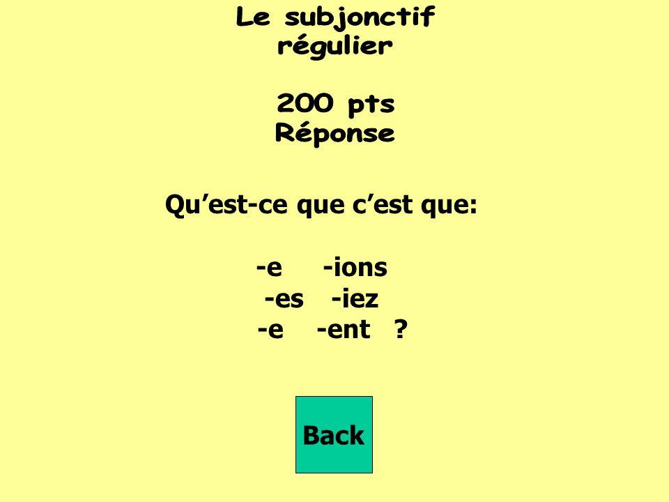 qu'il _________ (regarder) Back