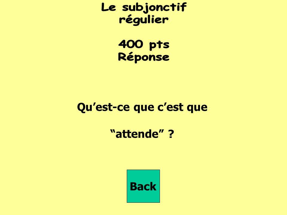 Que nous _________ (réfléchir) Back