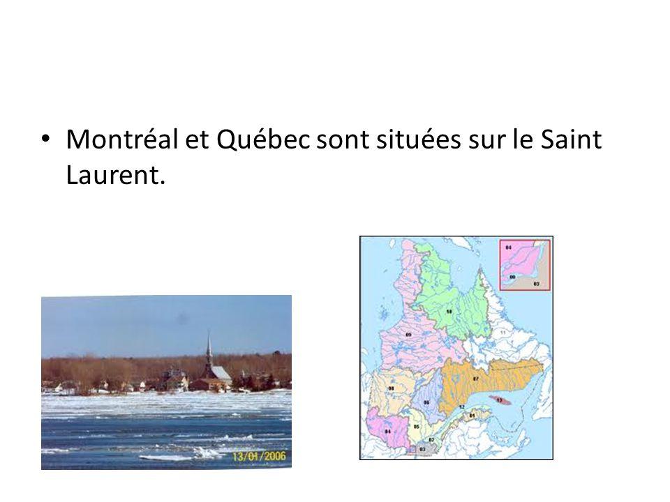 Montréal et Québec sont situées sur le Saint Laurent.