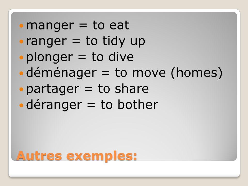 Avec les verbes qui se terminent avec –cer, vous devez ajouter un cédille.