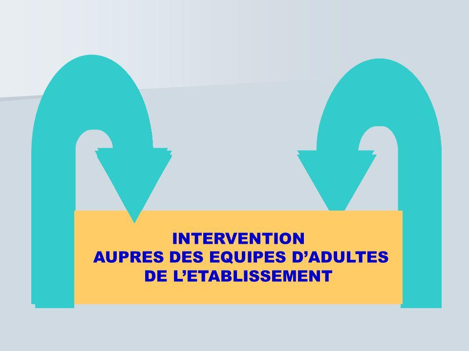 INTERVENTION AUPRES DES EQUIPES D'ADULTES DE L'ETABLISSEMENT