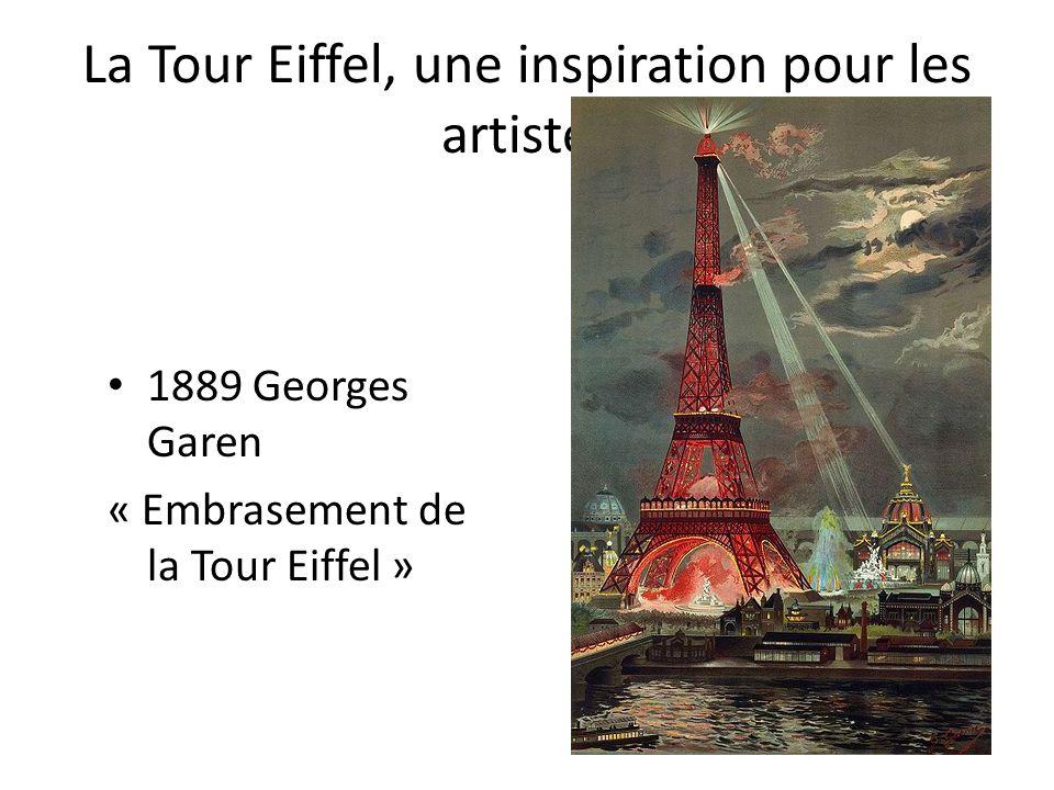 La Tour Eiffel, une inspiration pour les artistes 1889 Georges Garen « Embrasement de la Tour Eiffel »