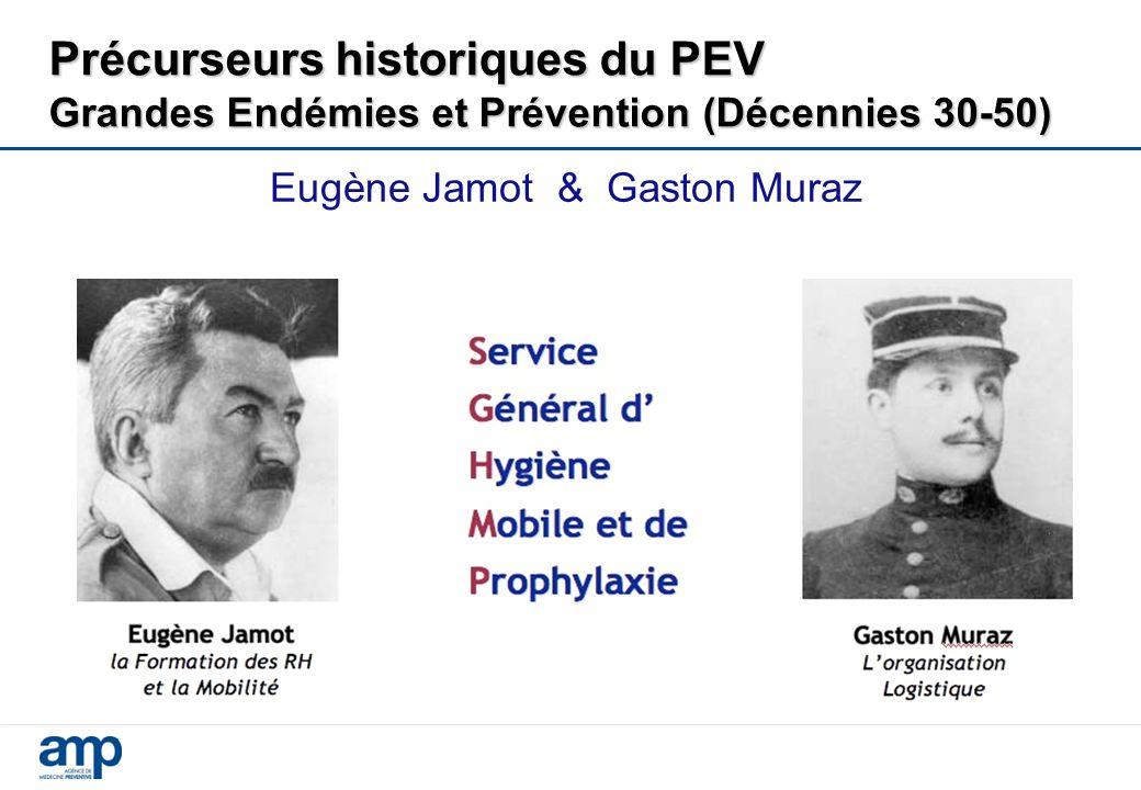 Eugène Jamot & Gaston Muraz Précurseurs historiques du PEV Grandes Endémies et Prévention (Décennies 30-50)