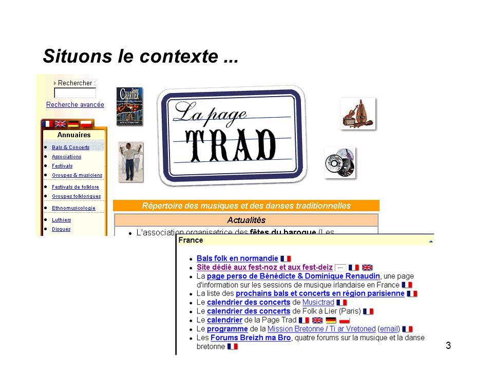 Isabelle Kervella - Mastère ISIC3 Situons le contexte...